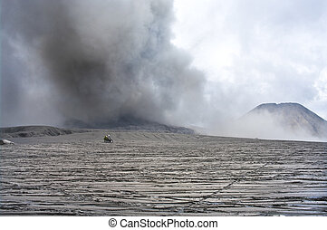 Wide caldera and vulcanos, Java, Indonesia - Volcanoes of...