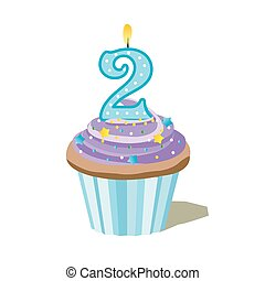 number two cupcake