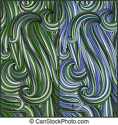 2 seamless abstract pattern