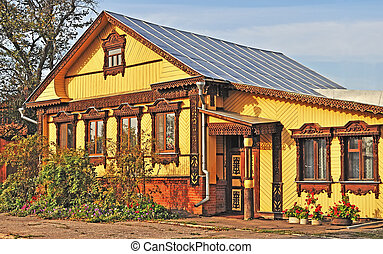 Beautiful wooden country house - Beautiful wooden yellow...