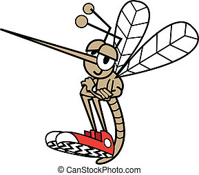 moustique, dans, dessin animé, Style