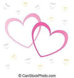 hearts valentine\'s icons, wallpaper