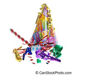 birthday party supplies - isolated birthday party supplies