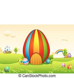 Easter Eggs House