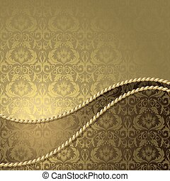 Brown and gold background - Brown background with gold...