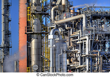 Oil refinery - Detail of an oil refinery
