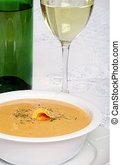 cheddar cheese soup with white wine