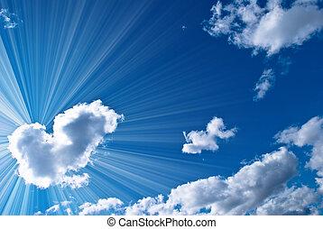 美しい, 青, 空