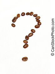 coffee ? - question-mark made of cofee beans