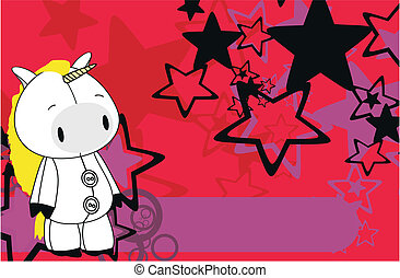 unicorn cartoon background8 - unicorn cartoon background in...