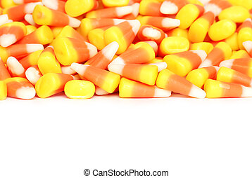 isolated candy corn on white background