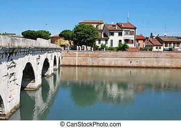 Tiberius' bridge, Rimini, Italy