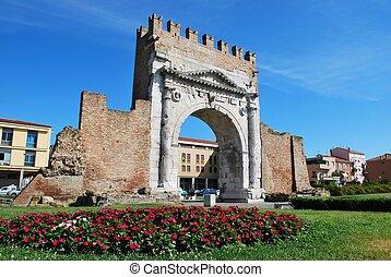 Augustus' triumph arch, Rimini, Italy - Augustus' triumph...