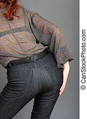woman behind wearing jeans