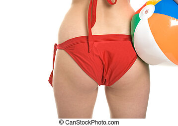 womans bottom in bikini - Isolated womans bottom in bikini...