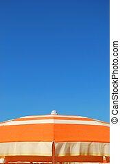 Orange beach umbrella