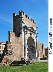 Augustus triumph arch, Rimini, Italy - Augustus triumph...