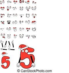 five number cartoon