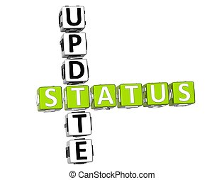 Update Status Crossword - 3D Update Status Crossword on...