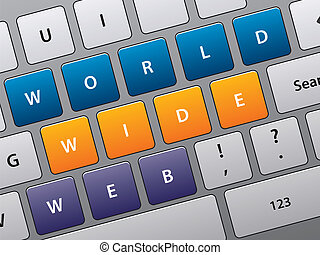 keyboard with Internet access - Illustration of laptop...