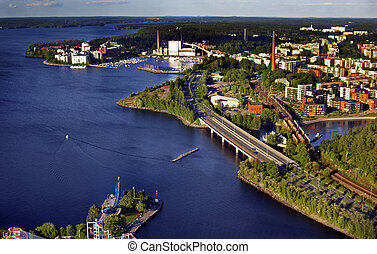 Fiew from above: trestle bridge - View from N?sinneula...