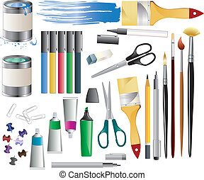 Paint accessories - Huge set of paint accessories.