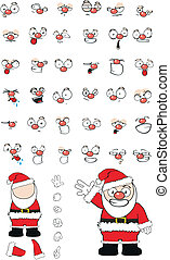 santa claus cartoon set in vector format