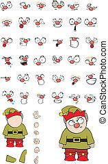 goblin cartoon set in vector format