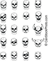 skull head set pack2 - skull head set pack in vector format