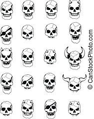 skull head set pack2 - skull head set pack in vector format