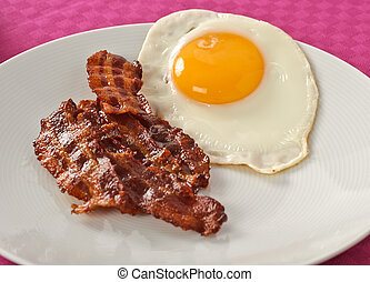 Bacon and egg - Breakfast with bacon and egg