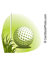 Vector golf background vector illustration