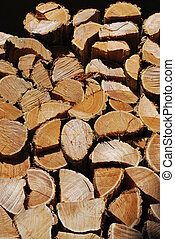 Woodpile - Pile of firewood, wood backlogs as background
