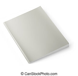 Blank magazine cover II - Blank magazine isolated on white...