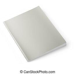 Blank magazine cover II - Blank magazine isolated on white...