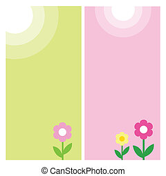 Spring banners - Template with copy space