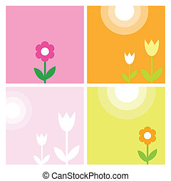 Spring backgrounds - Template with copy space