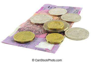 Australian money - Australian cash over white surface