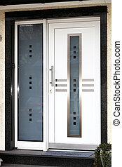 Modern front door  - Modern front door  with glass