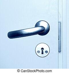 door handle close up