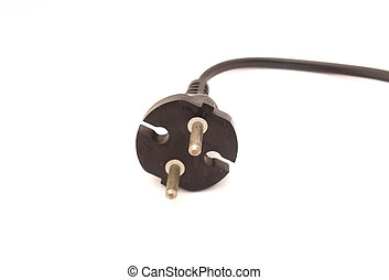 Power Cord on a white background