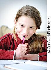 positive schoolgirl