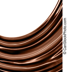 glossy chocolate waves