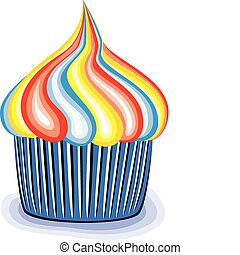 vector colorful cupcake