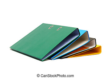 loose-leaf binder isolated on a white background