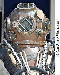 U.S. Navy Diving Helmet - U.S. Navy Mark V Diving Helmet