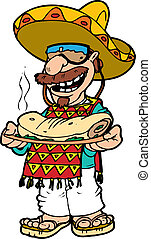 pepe - A little Hispanic character wearing a serape and a...
