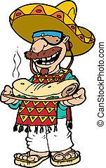 pepe - A little Hispanic character wearing a serape and a...