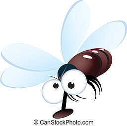 Cartoon style illustration of a fly - Cartoon style...