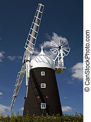 Stretham Windmill in the village of Sutton, Cambridgeshire